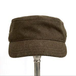 Gap Olive Green Wool Blend Hat Cadet Military Cap